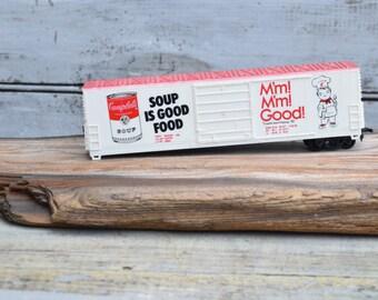 Campbells Soup, Train, Campbells Advertising, Campbells Collectible, Train Car, 1982 Campbells, Red and White, Train Decor, Soup Decor