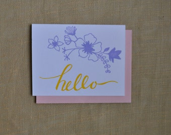 Springtime Greetings Letterpress Card