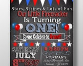 July fourth themed birthday party, kids red white and blue birthday party, unique fourth of july birthday party ideas invites ID# INVHDY01