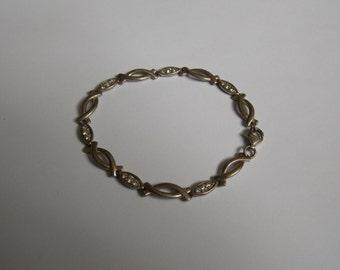 Bracelet vintage 925 Silver and rock crystal