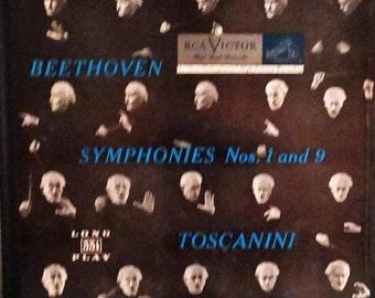 Beethoven, Toscanini, The NBC Symphony Orchestra – Symphonies Nos. 1 And 9 : 1952 ( 2 x LP, Album, Vinyl Record) Classical Music