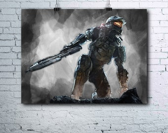Halo Master Chief - Halo Game - Halo Printables - Halo Print - Halo Master Chief Poster - Halo Wall Art - Halo Master Chief Printables