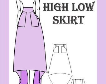 Sewing Pattern: Long High Low Skirt