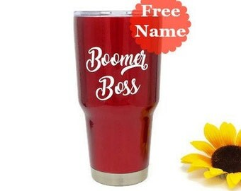 Gift for Boss - Personalized Teacher Gift - Tumbler for Boss - Memento Tumbler - Gift for Her - Translucent Red Powder Coated Tumbler 30 oz