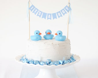 Baby Shower Cake Topper Boy - It's A Boy Cake Topper  - Baby Shower Cake Decorations - Baby Shower Cake Banner - Baby Shower Cake Bunting