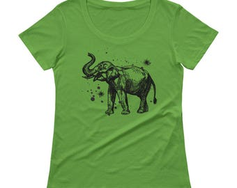Elephant Tshirt - Elephant T Shirt - Elephant Tee - Graphic Tee For Women - Gift for Her - Ladies Tshirt - by Bloom Bloom Wear