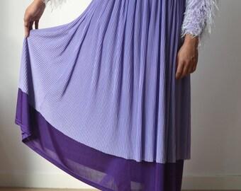 SALE // long maxi pastel purple lavender skirt / boho chic / hippie / grunge / 90s / festival / summer / aesthetic / cute