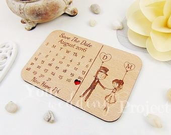 Calendar Save the Date Magnet, Custom Engraved Save the Date, Wood Save the Date, Rustic Save the Date, Wedding Favors, Wedding Invitations
