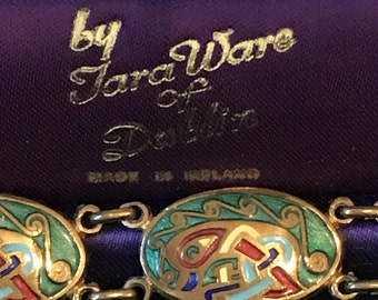 Vintage TaraWare of Dublin Enamel Bracelet