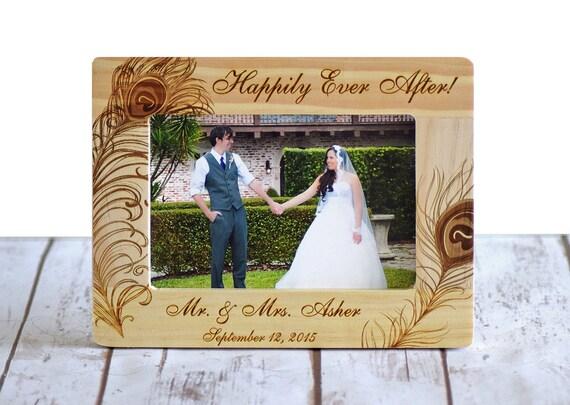 Personnalis cadre photo de mariage cadre en bois douche de - Cadre photo mariage personnalise ...