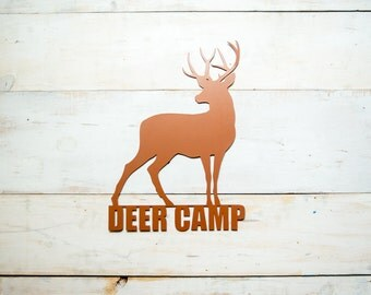 Deer Camp Steel Art