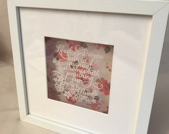 Life Doesn't Come With A Manual....Mum|Mother's Day|Gift|Framed Papercut|Hand Made
