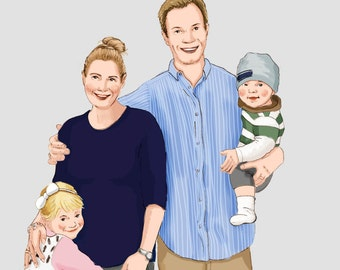 Custom Family Portrait up to 4