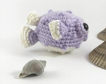 Amigurmi Baby Puffer Fish, Crochet Puffer Fish, Sea Creature, Stuffed Animal, Plush Fish, Aquatic, Crochet Fugu,  Crochet Animal, Kawaii