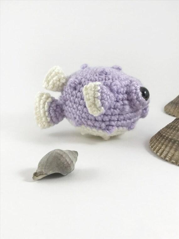 Amigurmi baby puffer fish crochet puffer fish sea creature for Puffer fish stuffed animal