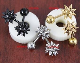 Black studs, black stud earrings, black earrings, gold stud earrings, men earrings, guy earrings, ear studs for men, mens studs, SE3492