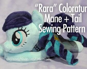 Rara Coloratura Mane + Tail Sewing Pattern