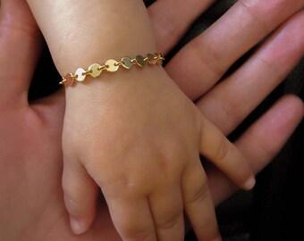 Baby namensarmband gold