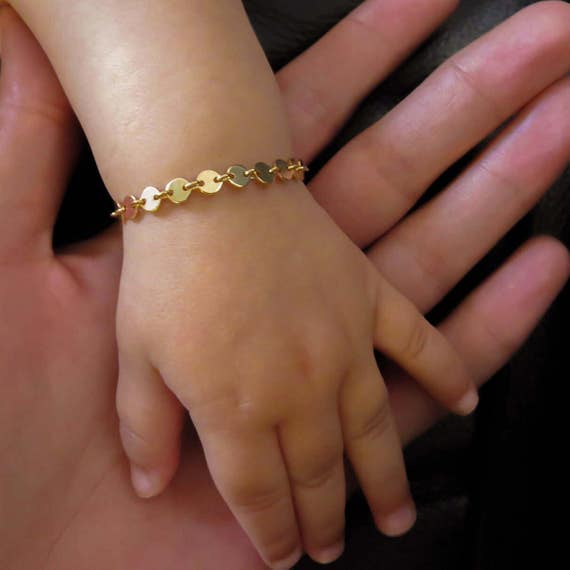Gold Infant Bracelet Gold Baby Bracelet Child Bracelet Gold