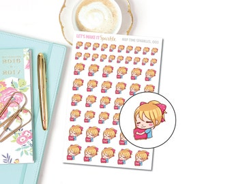 Sleepy Sparkles Planner Stickers, 003 (Nap Time Stickers)