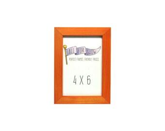 4x6 Frame, Bright Orange Frame, 4x6 Picture Frame, Photo Frame, Picture Frame, 6x4 Frame, 4x6 Photo Frame, Orange Frame, 4x6 Wood Frame