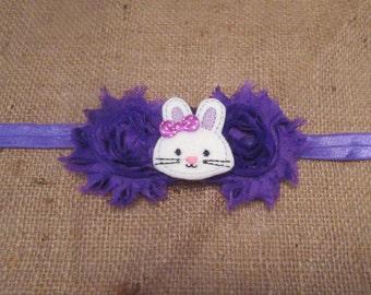 Purple Bunny Headband, Easter Bunny Headband, Rabbit Headband