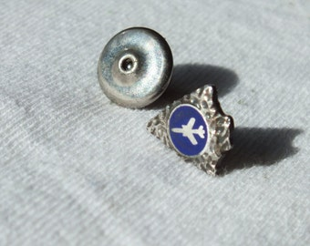 Vintage Sterling Silver USAF Vietnam War Era F-105 Thunderchief Fighter Jet Tack Lapel Pin Jewelry, L. G. Balfour Company,