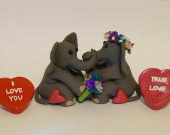 """KushlansCreations""""Nima&Diago"""" Standard Polymer Clay Sculpture Valentines Day"""