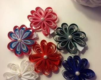 Flower ribbon bows