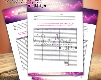 Younique Party Order Form - Digital Download ~ Volume .1.