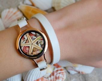 Beach Wedding , Mermaid beach bracelet, Beach bracelet, Mermaid bracelet, Ocean bracelet, Modern bracelet, Nautical bracelet, Rose gold.