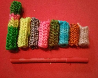 Dreadlock fabric beads