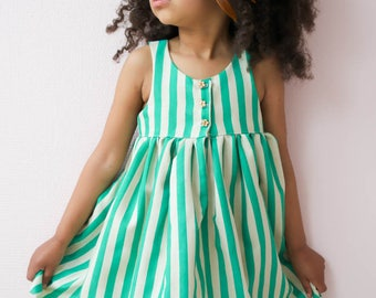 Lilah Top & Dress, Girls Pattern, PDF Patterns, Knit or Woven, PDF, Girls Dress Pattern, girls dress, racerback dress