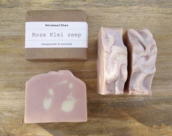 Pink Clay soap - handmade, all natural soap with grapefruit essential oil and tussah silk / pink kaolin clay and babassu oil / artisan soap