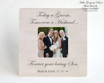 Parents of the Groom Gift Picture Frame Personalized Gift to Parents Gift from Son Mother of the Groom Gift Mom Wedding Day Thank You Gift