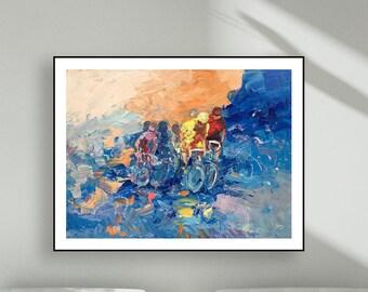 Bike Art Bicycle Art Cycling Art Poster Art Prints Sport Race Art Paper Art Canvas Art Gifts for Bikers Sport Office Decor Sport Gifts Men