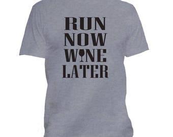 Funny Running t shirt, Wine shirt, Workout shirt, Wine Drinker, Gym shirt, Marathon shirt, Marathon Gift, Fitness, Humor  239