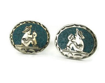 Vintage Mexican Sterling Silver Cufflinks