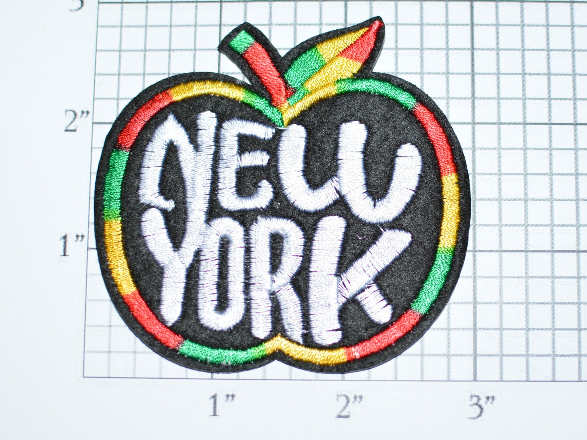 New york apple patch iron on travel jeans