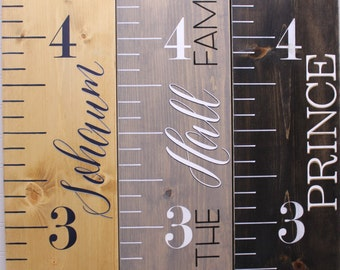 wood growth chart ruler painted kids measuring stick