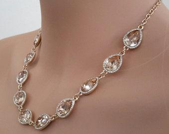 Topaz & Rhinestone Necklace