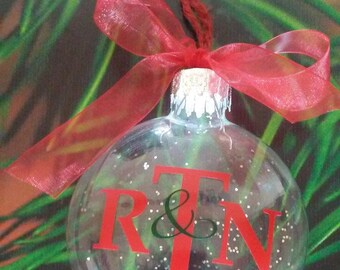 Vinyl Monogrammed Christmas Ornament