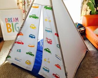 Beautiful Teepee, wigwam, Go Go Retro themed fabric by Harlequin +mat+ cushion cover