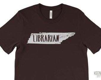 Librarian Tshirt| Gift for Librarian|  Super-Soft T-shirt customized with your state| Customized Gift | Library Science | Library Humor