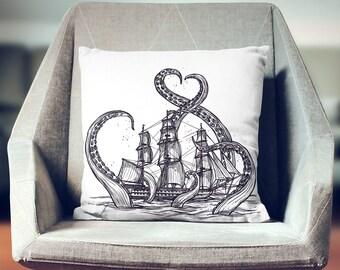 Kraken Octopus Throw Pillow | Octopus Cushion | Octopus Decoration | Octopus Pillow Cover | Octopus Pillow | Octopus Décor | Octopus Gift