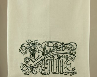 Blessed Yule Kitchen Towel / Dish Towel