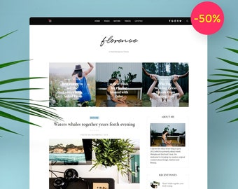 WordPress Blog Theme - Florence  For Her and Him ! Responsive Blog and Personal WordPress Theme