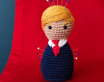 Donald Trump Pincushion crochet pattern