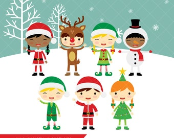 Kids Christmas Costumes Clipart