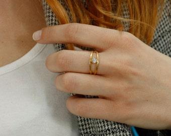 Personalized Birthstone Ring, Birthstone Ring, Custom Birthstone Ring, Birthstone Gold Ring, Custom Mother Ring, Birthstone Jewelry, SR0211
